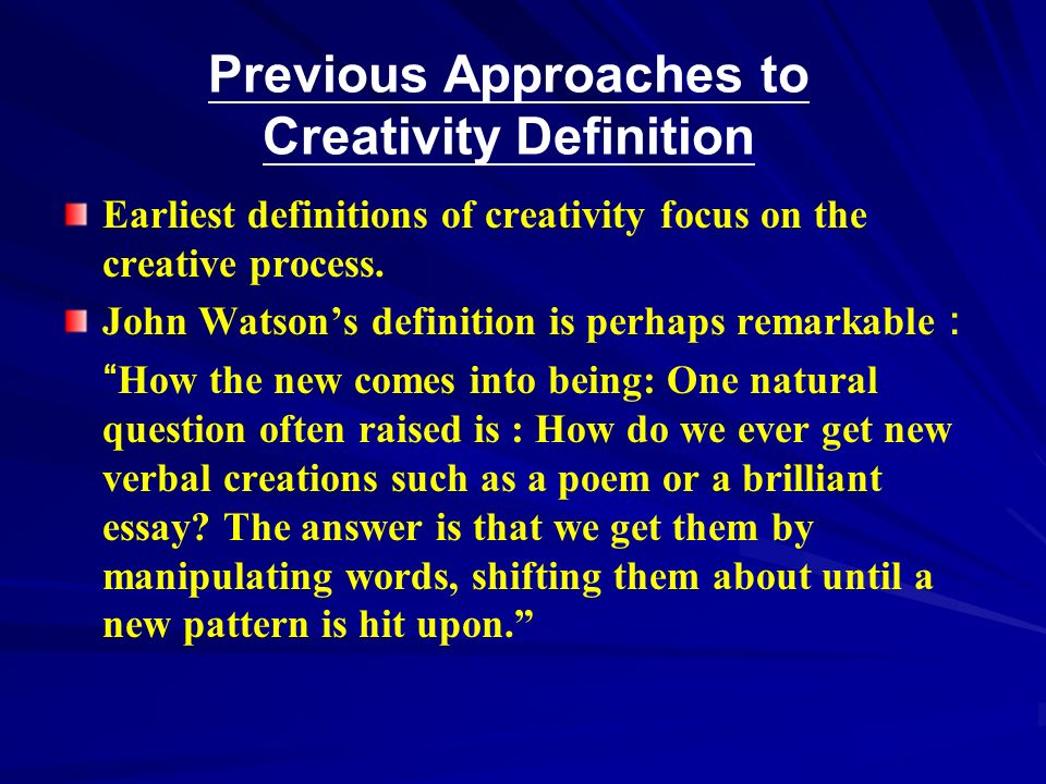 master thesis creativity Sample dissertation / thesis example  master's or mba paper there is a certain technique, where you can access someone else's paper, and use it as a foundation for your own work, thus trying to understand the specifics of the thesis, dissertation, research proposal, etc  as your own paper has to state your creative, original and.