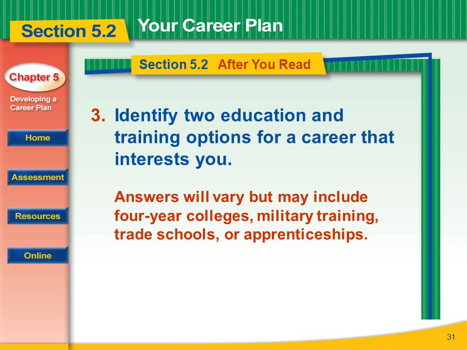 Trade school career options
