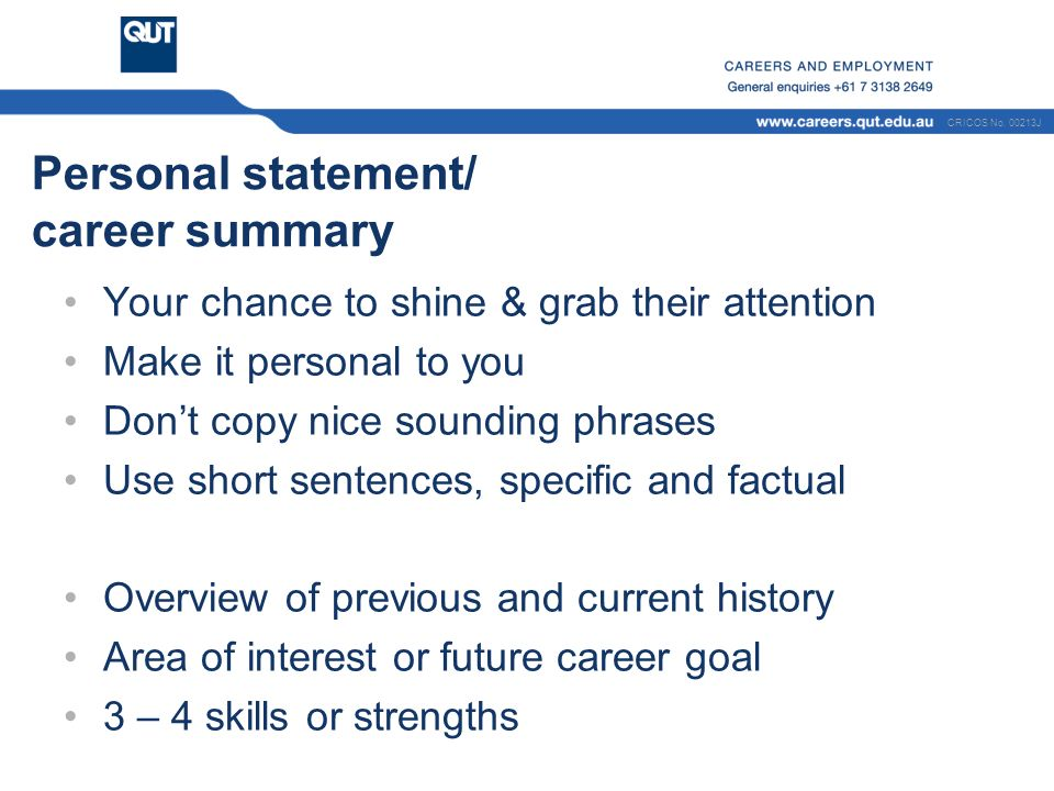 skills statement for resumes