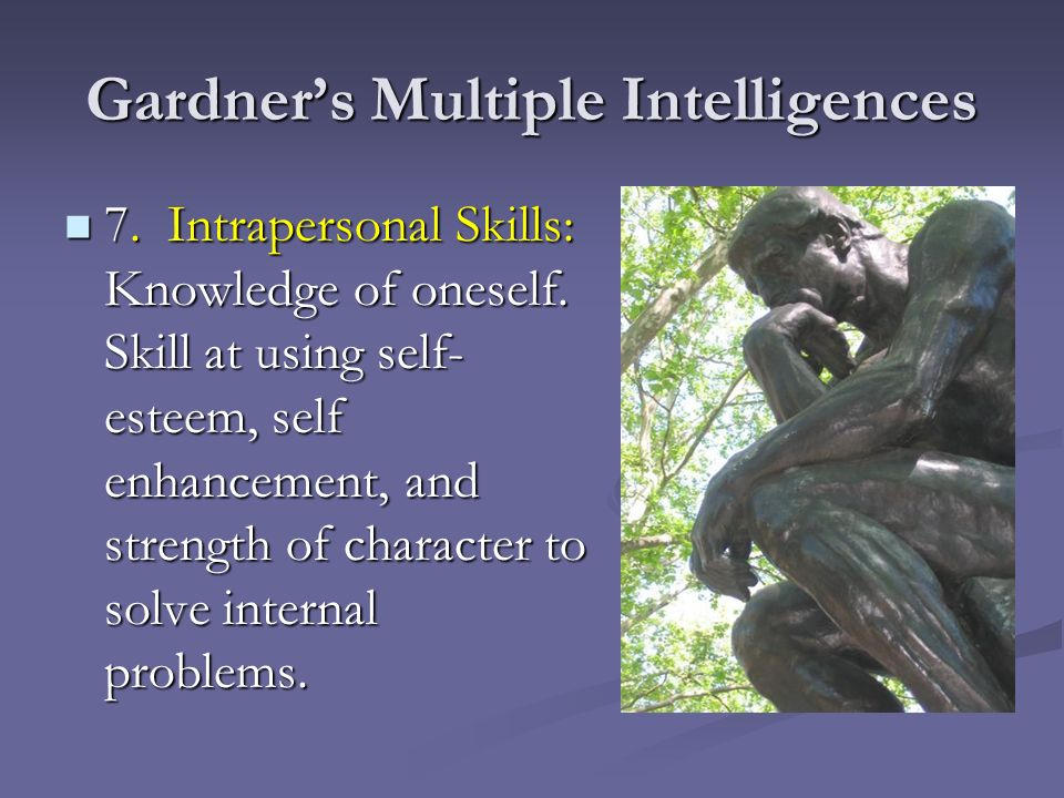 montessori vs gardner s theory of multiple intelligences I feel extremely fortunate to have found a program i can  catherine w teacher   what is gardner's theory of multiple intelligences maria montessori: theory &  contributions to education  or is there more to answer.