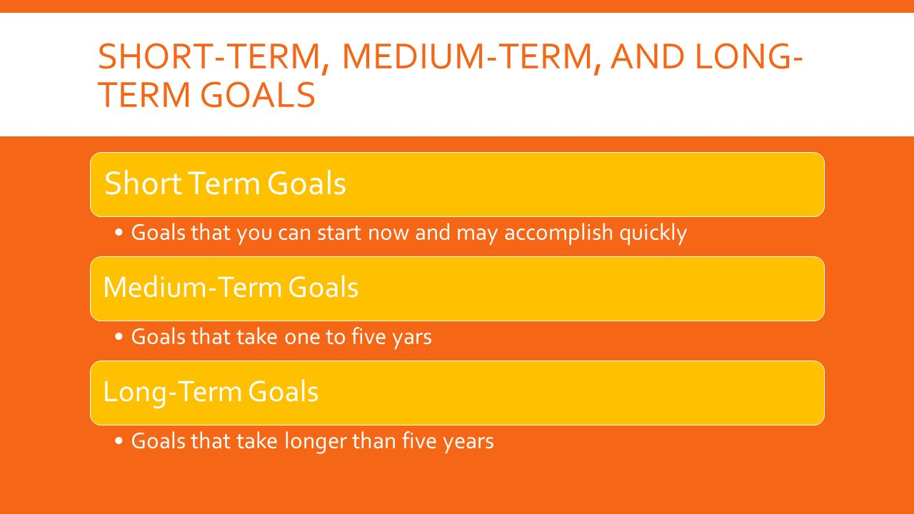 Long term and short term career goals essay