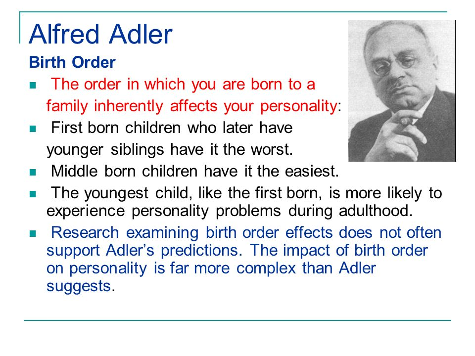 Essay on birth order and personality