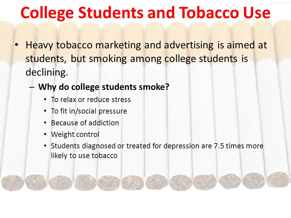 smoking among students Smoking cigarettes presents health risks for frequency of tobacco use among middle and high school students get smoking and youth updates by email what's.