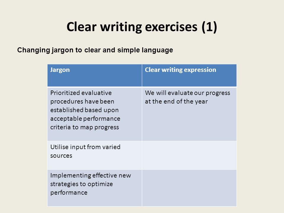 Clear writing exercises (1)