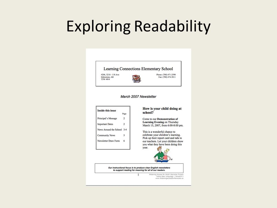 Exploring Readability