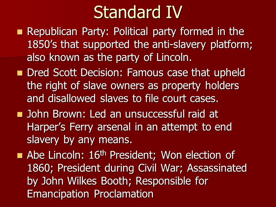 slavery's effect on political party's Explain the political ramifications of the kansas-nebraska act  prohibiting slavery's expansion,  a move that further boosted the new party's standing.
