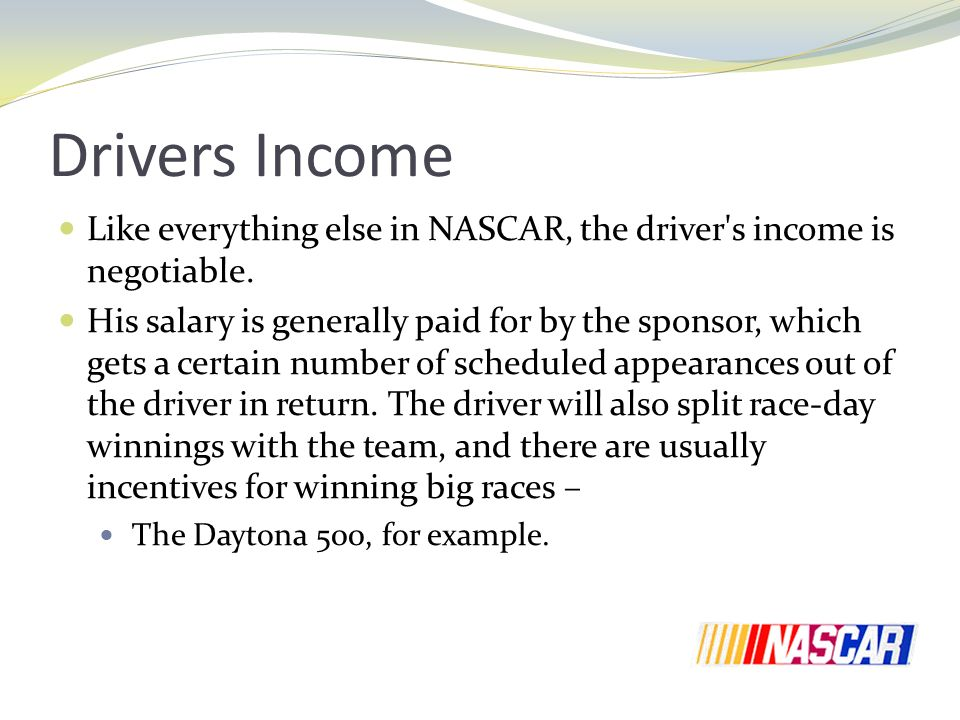 Sponsorship in NASCAR How much does it cost  ppt download