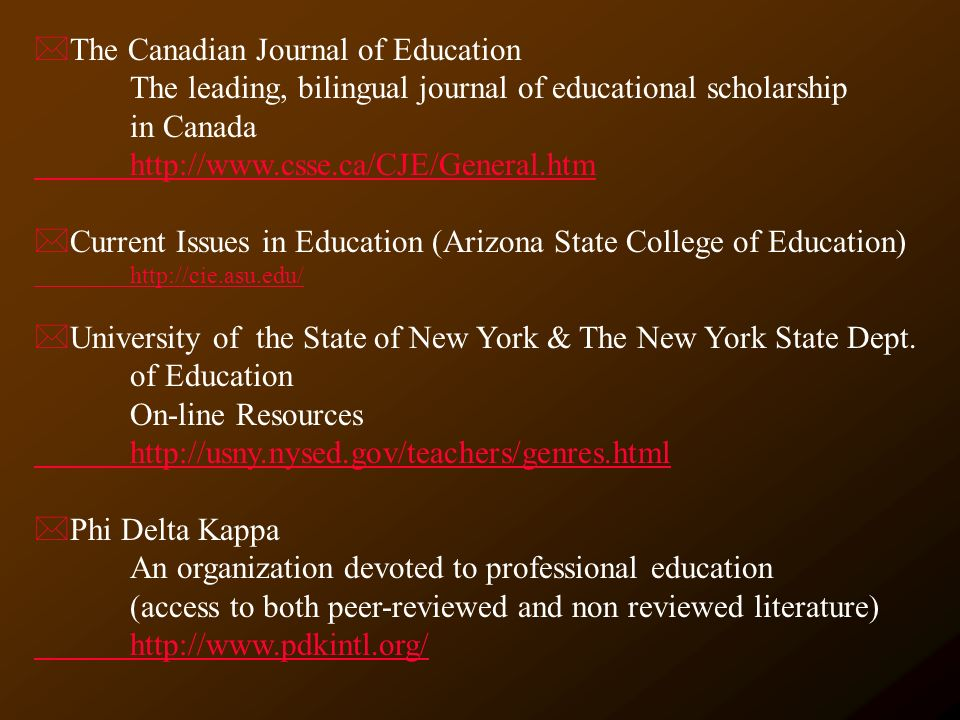 the journal of educational research pdf