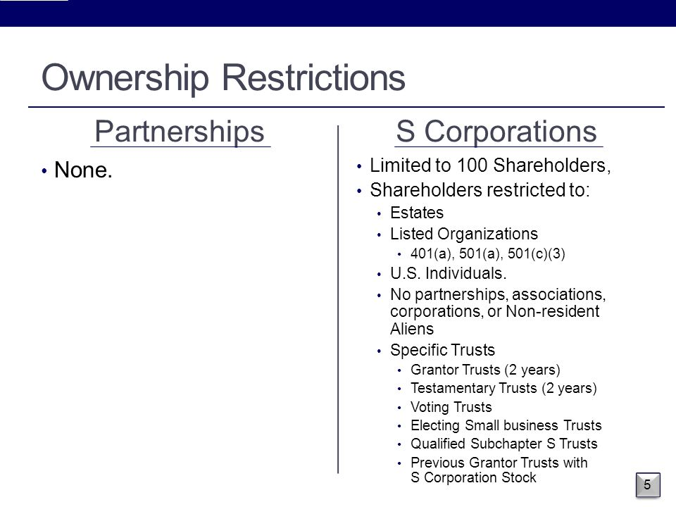 Partnerships and S Corporations - ppt download
