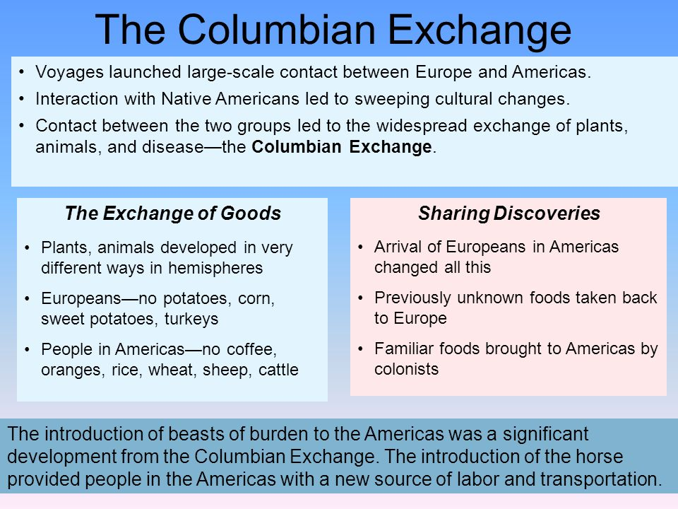 the columbian exchange positive or negative The positive aspects of the columbian exchange did not outweigh the negative  consequences brought about through the conquest of the indigenous peoples of .