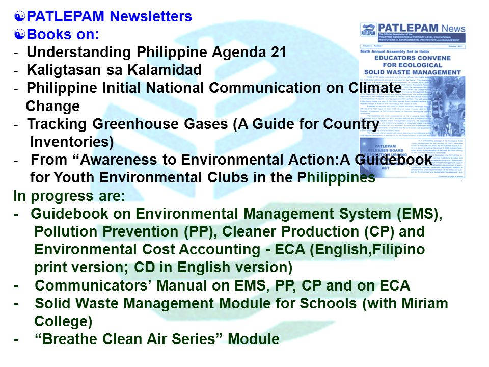 local literature in the philippines in waste management Hospital waste management in the philippines   15 review of literature  integrated waste and management incorporated lgu - local government unit loi.