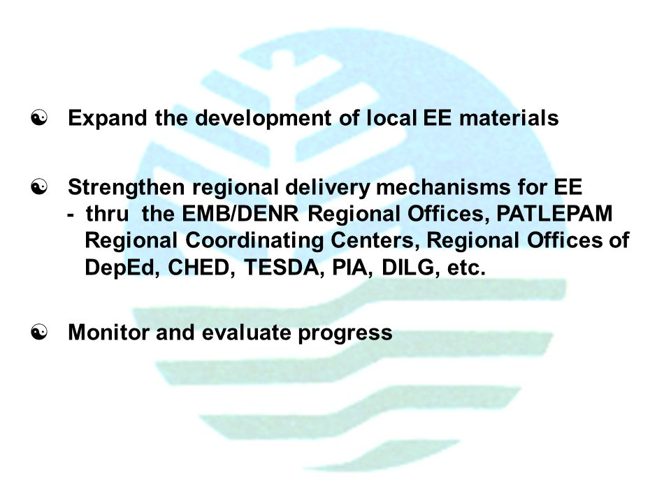 Initiatives from the environmental management bureau emb for Environmental management bureau region 13