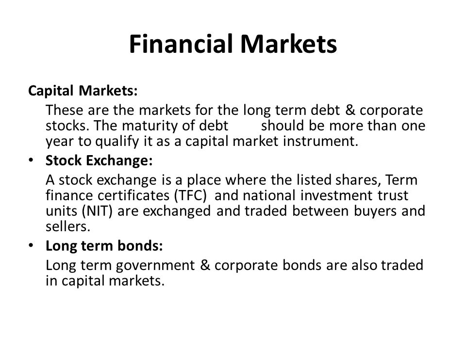 essay about capital markets, investment and finance