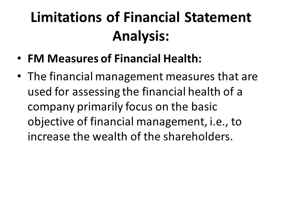 how to determine the financial health of a company