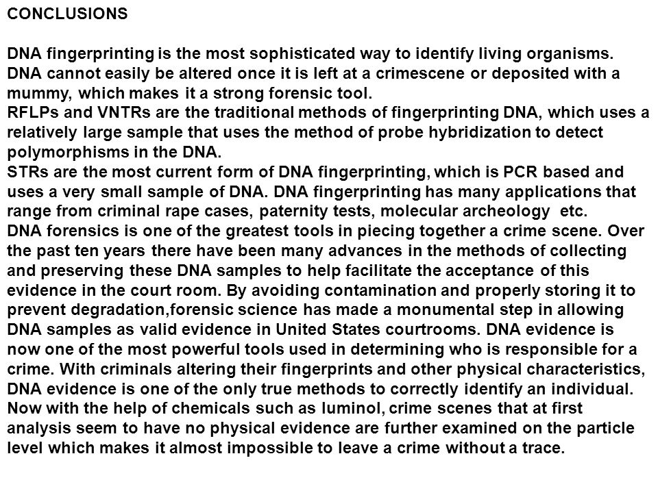an overview of the dna and forensics in the criminal cases of the united states Dna technology in forensic science  strengthening forensic science in the united states,  executive summary forensic science in criminal courts: .