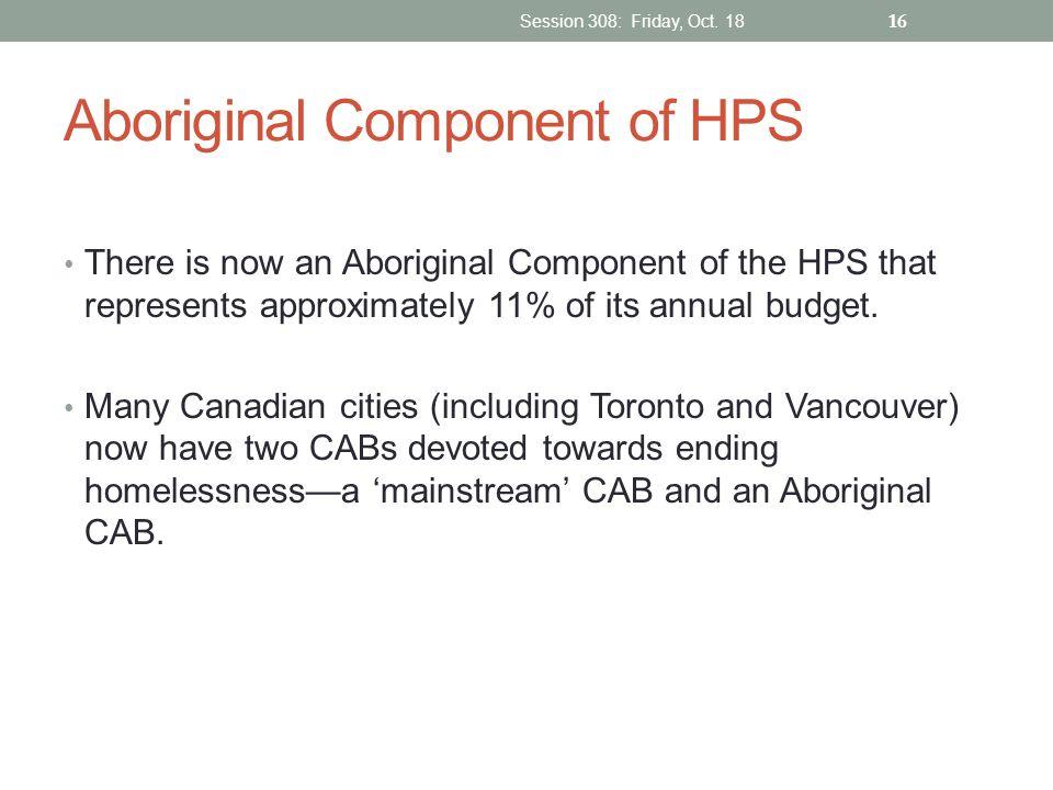 Aboriginal Component of HPS