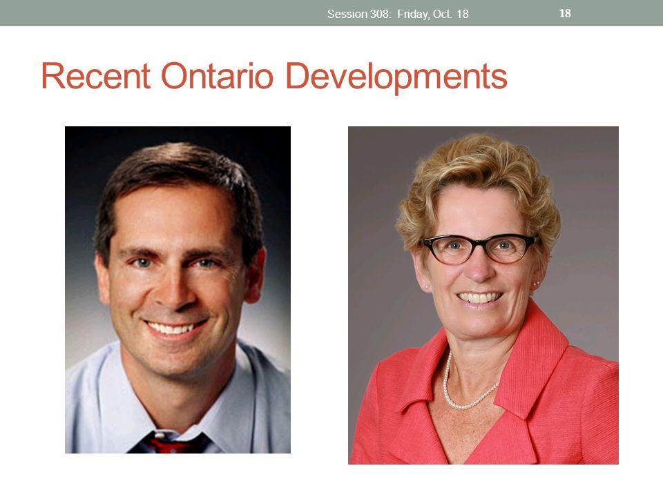 Recent Ontario Developments