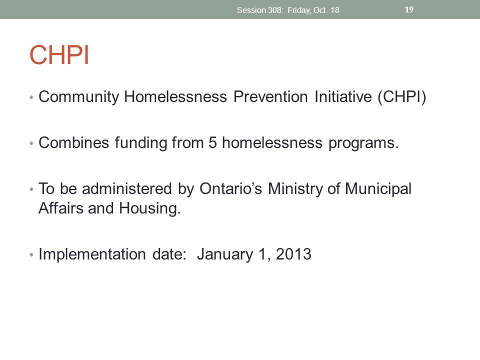 CHPI Community Homelessness Prevention Initiative (CHPI)
