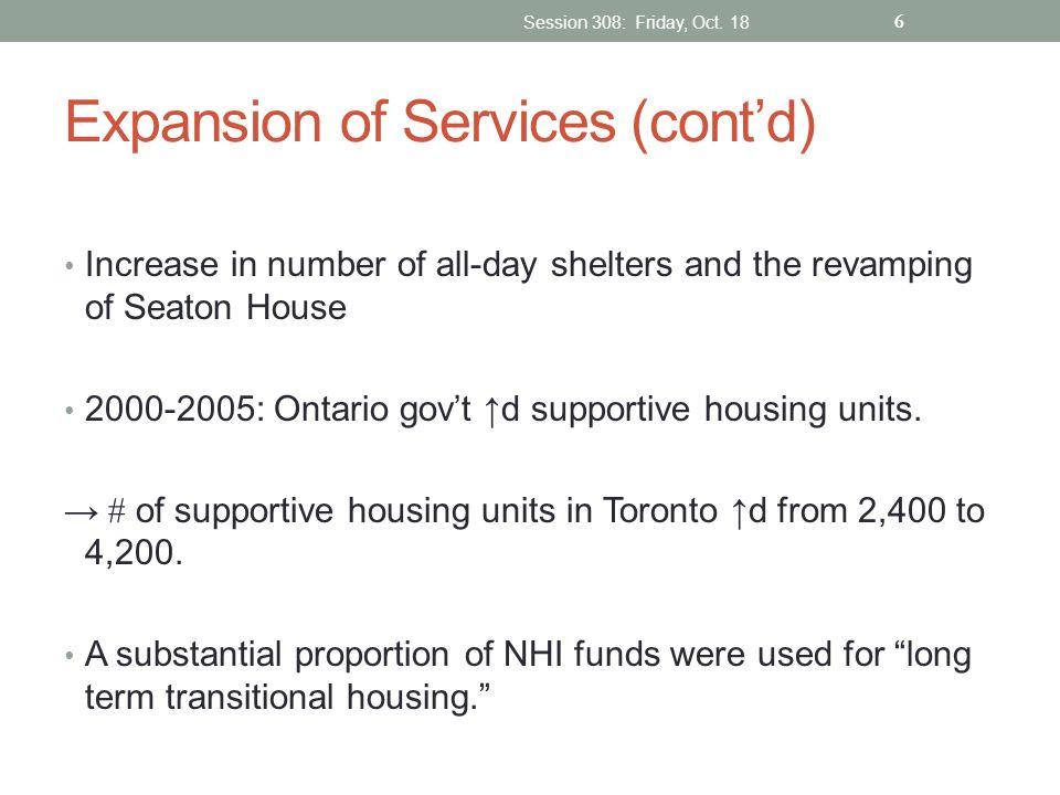 Expansion of Services (cont'd)
