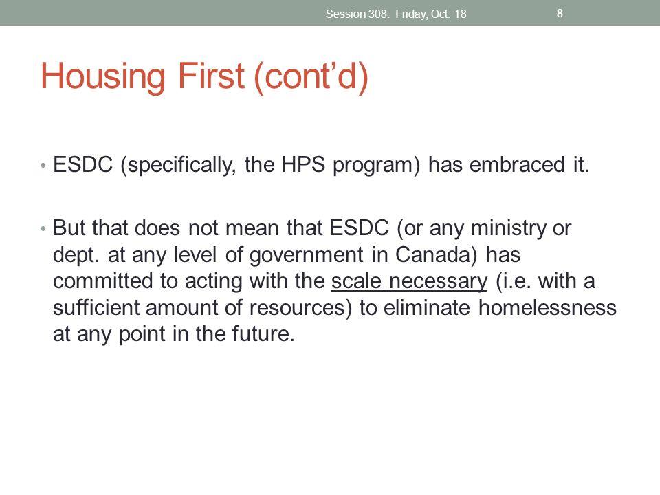 Housing First (cont'd)