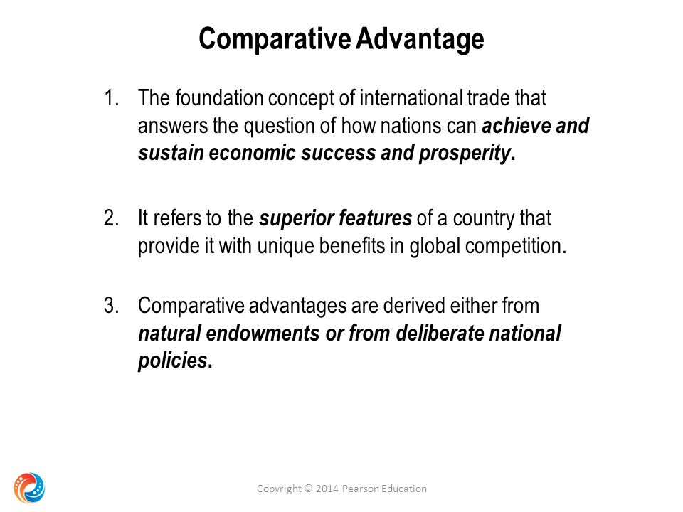 comparative advantage concept and benefits of The concept of comparative advantage suggests that as long as two countries (or individuals) have different opportunity costs for producing similar goods, they can profit from specialization and trade.