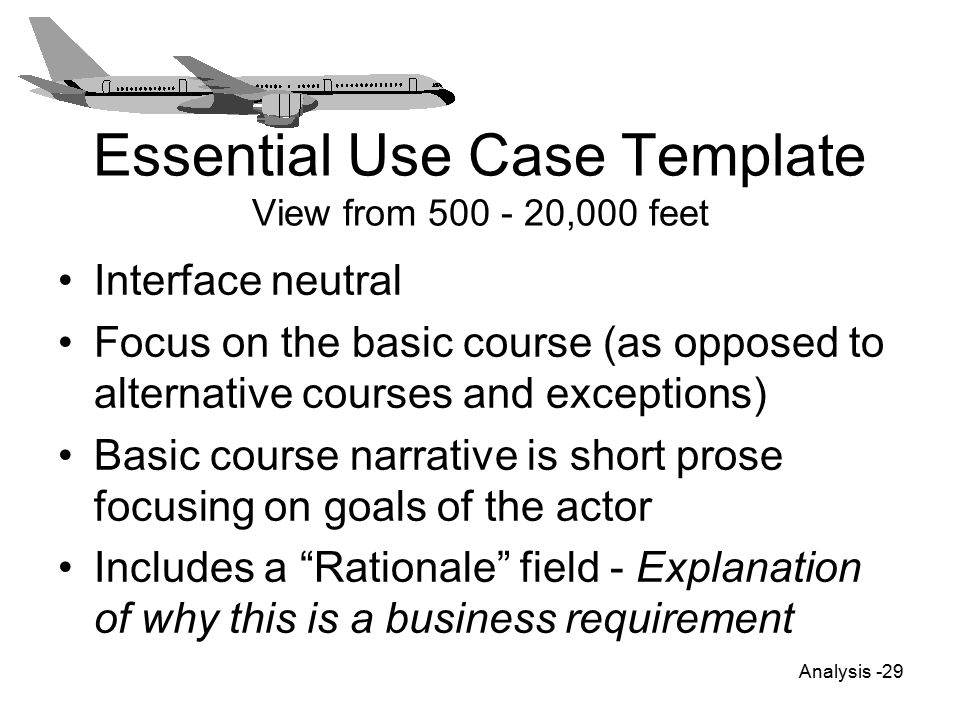 use case narrative template doc - analysis ppt video online download