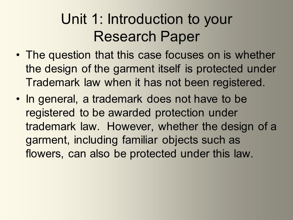 Introduction On Research Paper