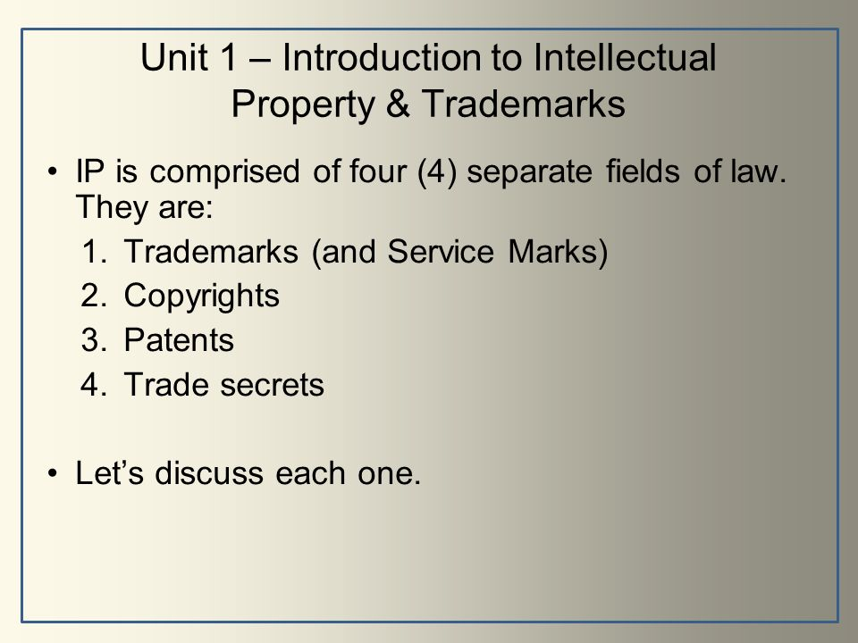 Federal Service On Intellectual Property Patents And Trademarks