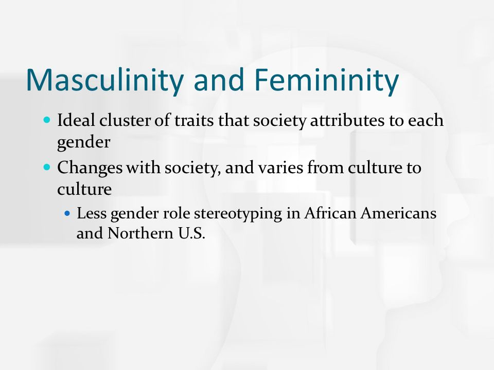 the roles of masculinity and femininity Sociology essay - to what extent have media representations of gender (masculinity and femininity) changed in recent decades.