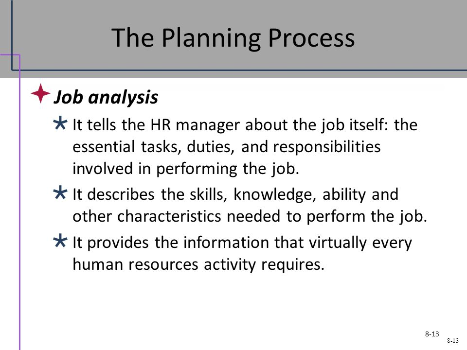 job analysis plan Compensation, benefits, and job analysis specialists conduct an organization's compensation and benefits programs they also evaluate position descriptions to determine details such as classification and salary compensation, benefits, and job analysis specialists work in nearly every industry .