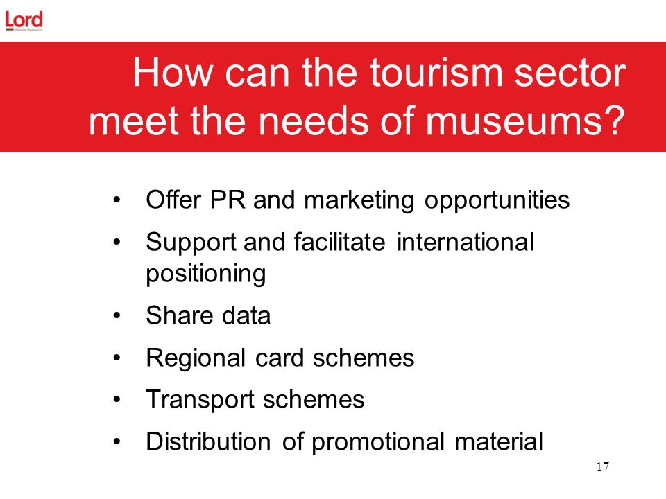 How can the tourism sector meet the needs of museums