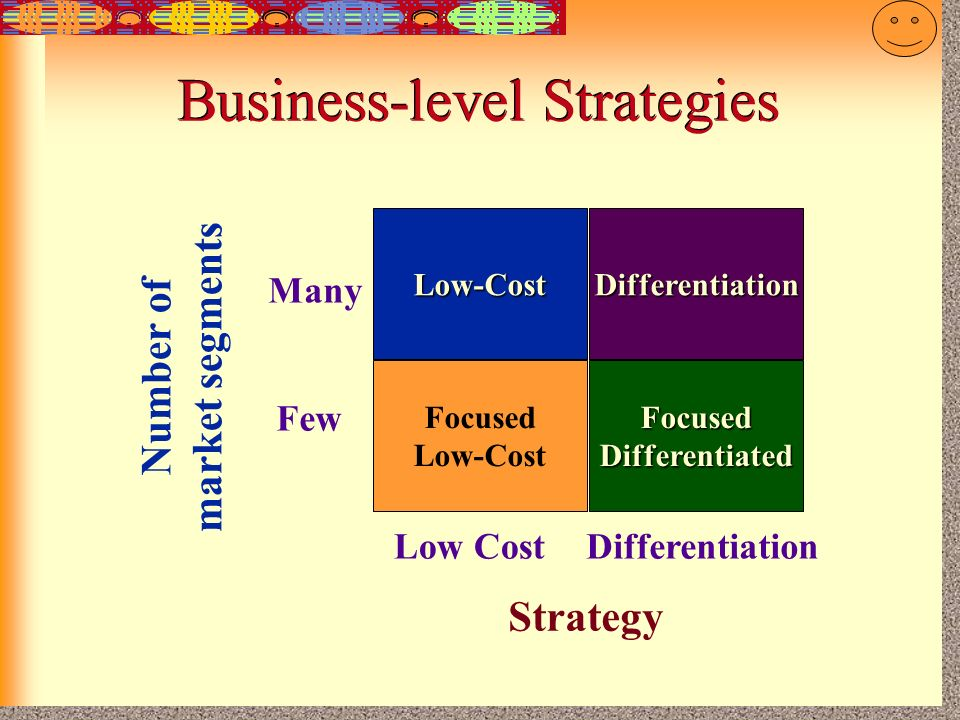 low cost or differentiation In which one of the following instances is a focused strategy keyed either to low-cost or differentiation not likely to work well.