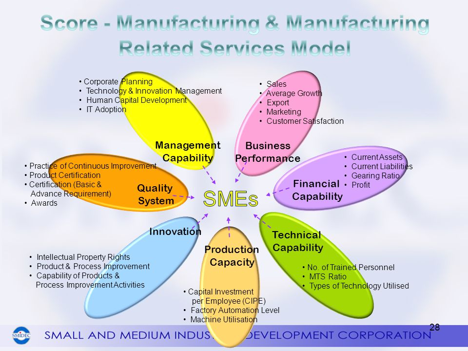 Score - Manufacturing & Manufacturing Related Services Model