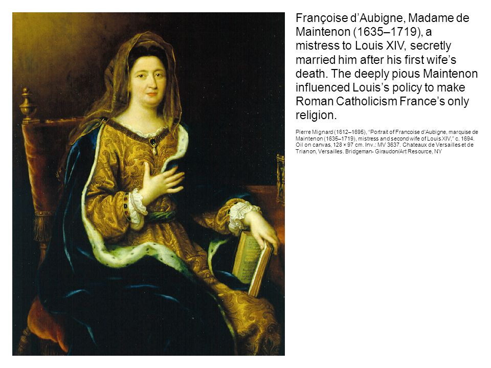influence de mme de maintenon