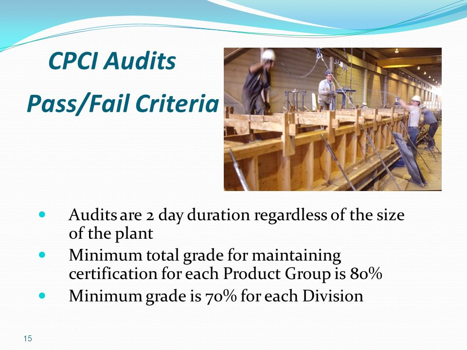 Pass/Fail Criteria CPCI Audits