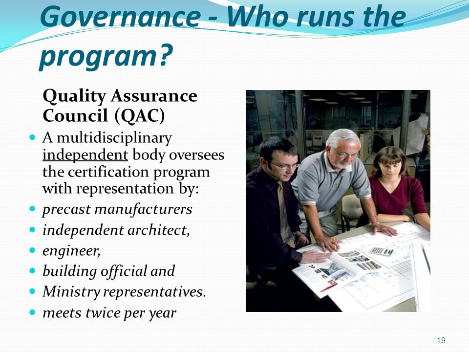 Governance - Who runs the program