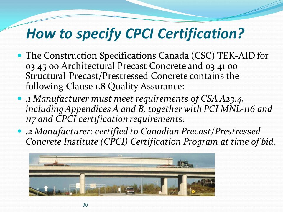 How to specify CPCI Certification