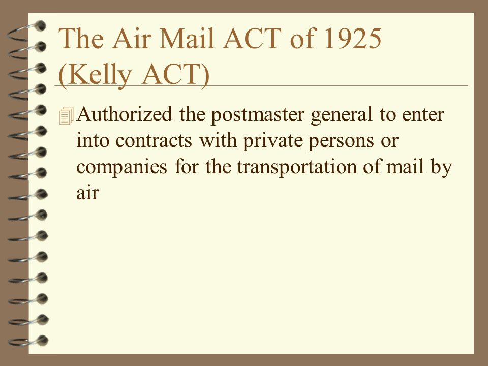 Air mail act