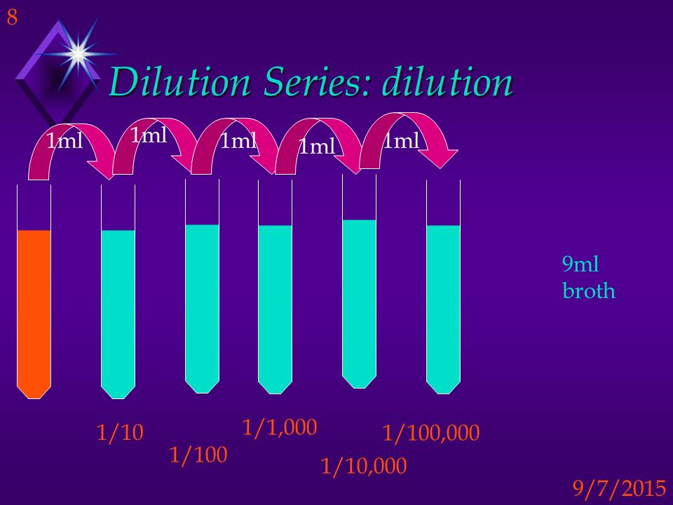 Dilution Series: dilution
