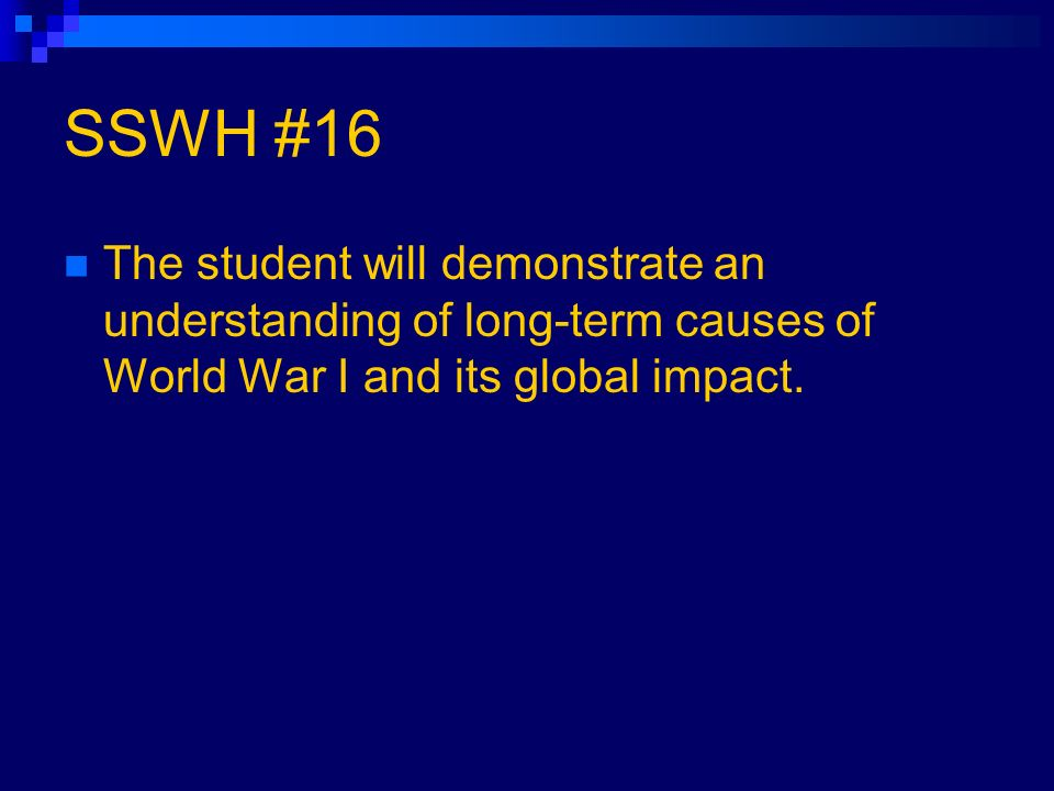 short essay on the causes of ww1