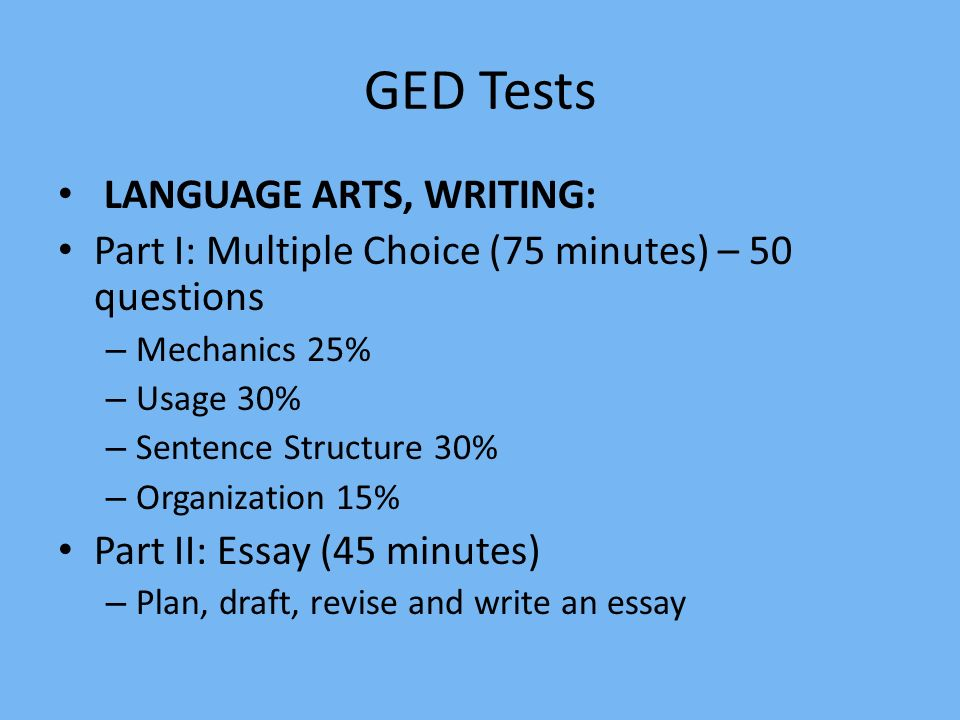 GED Essay Tips & Strategies