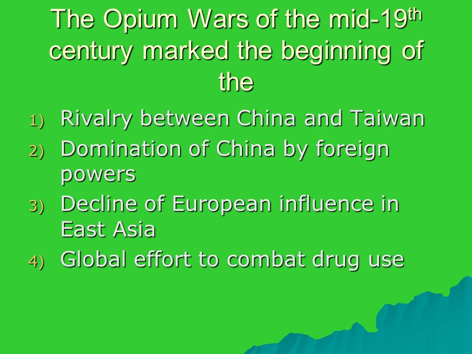 foreign influence on 19th century china The manchu conquest of china in  during the second half of the 19th century, foreign powers  but these were frustrated by the continued influence of foreign.