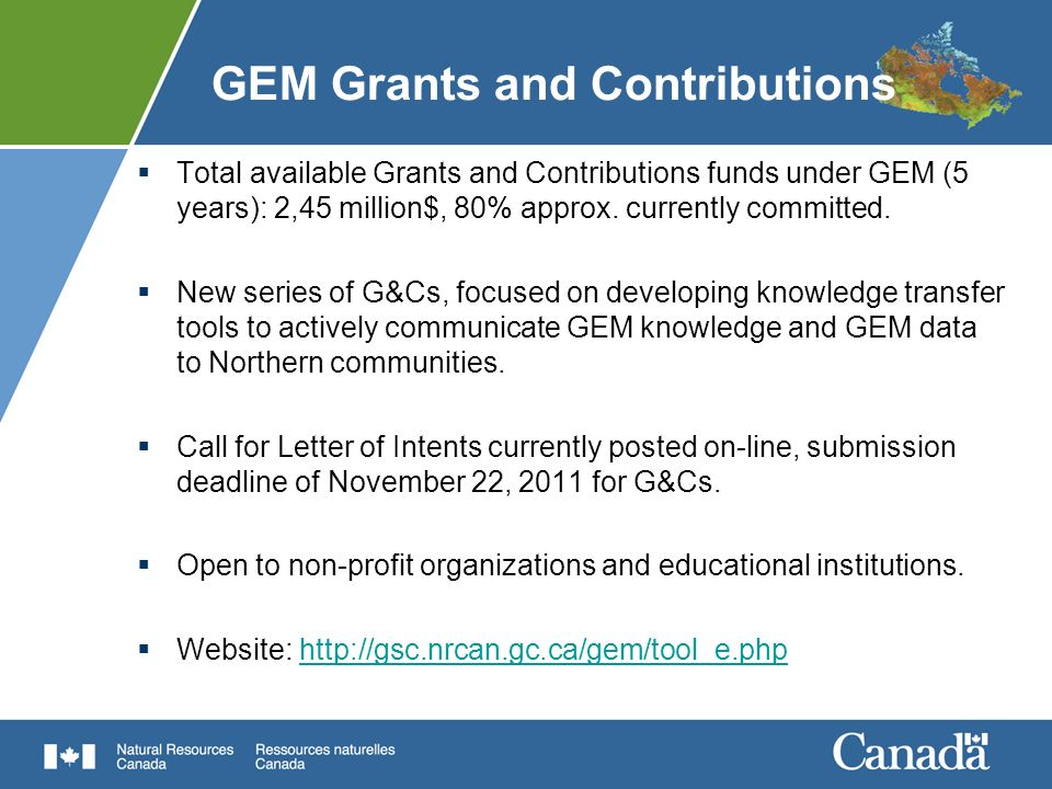 GEM Grants and Contributions