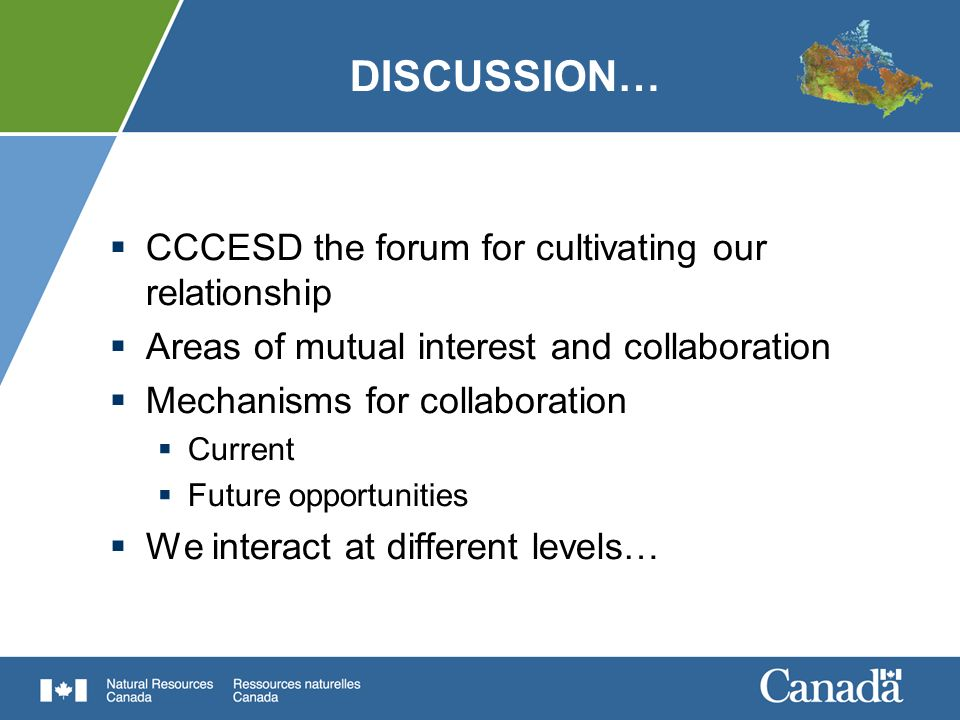 DISCUSSION… CCCESD the forum for cultivating our relationship