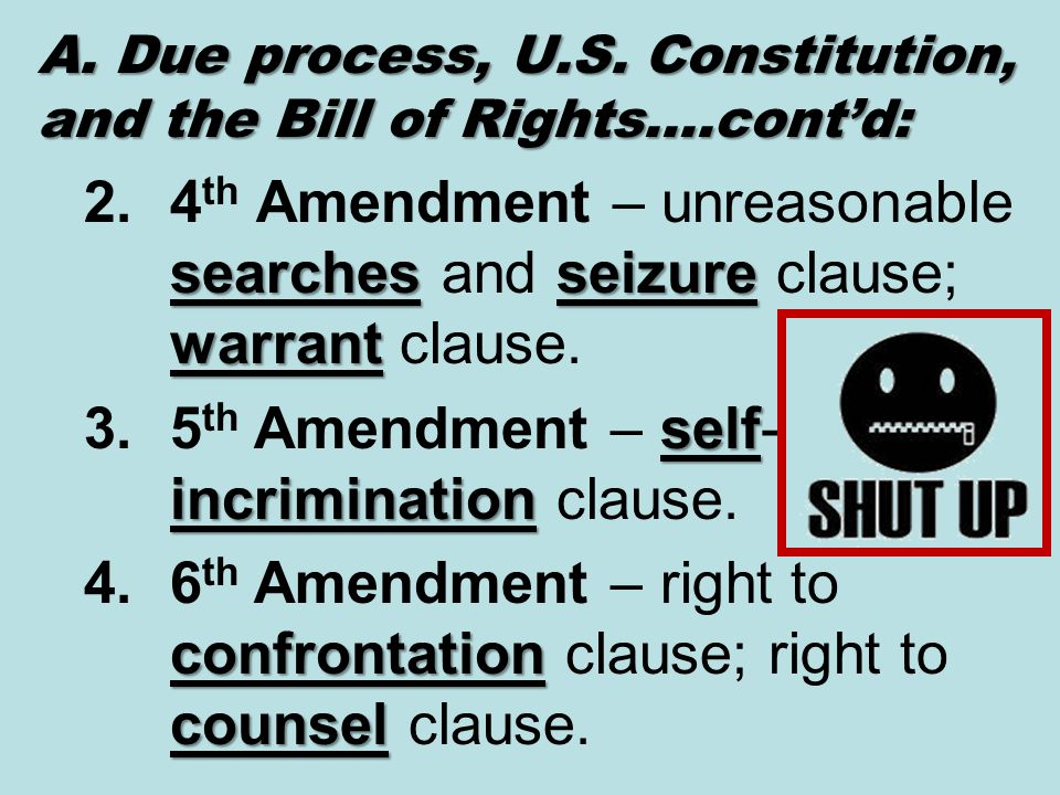 an introduction to the issue of self incrimination clause of the fifth amendment The extraterritorial application of the fifth amendment protection against coerced self yunis,4 the issue of whether the fifth amendment self-incrimination clause.