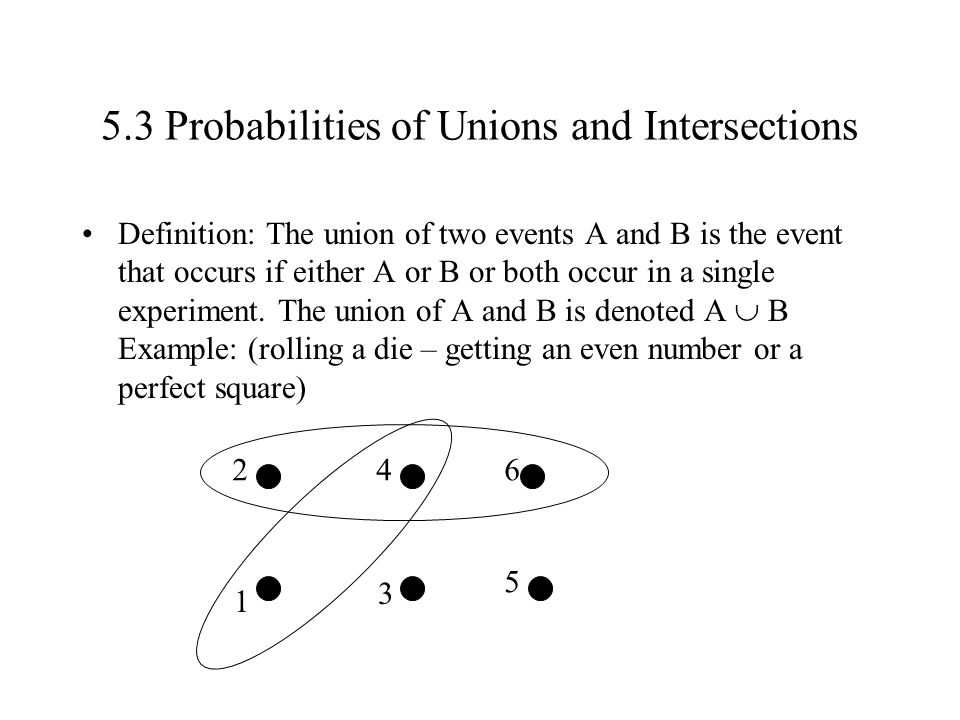 5.3 Probabilities of Unions and Intersections