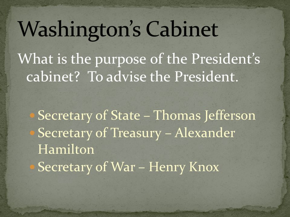an analysis of the secretary of state thomas jefferson and secretary of treasury alexander hamilton In 1789, alexander hamilton, the first us treasury secretary alexander hamilton, the first us treasury secretary his many detractors, including thomas jefferson and madison, were called democratic-republicans.