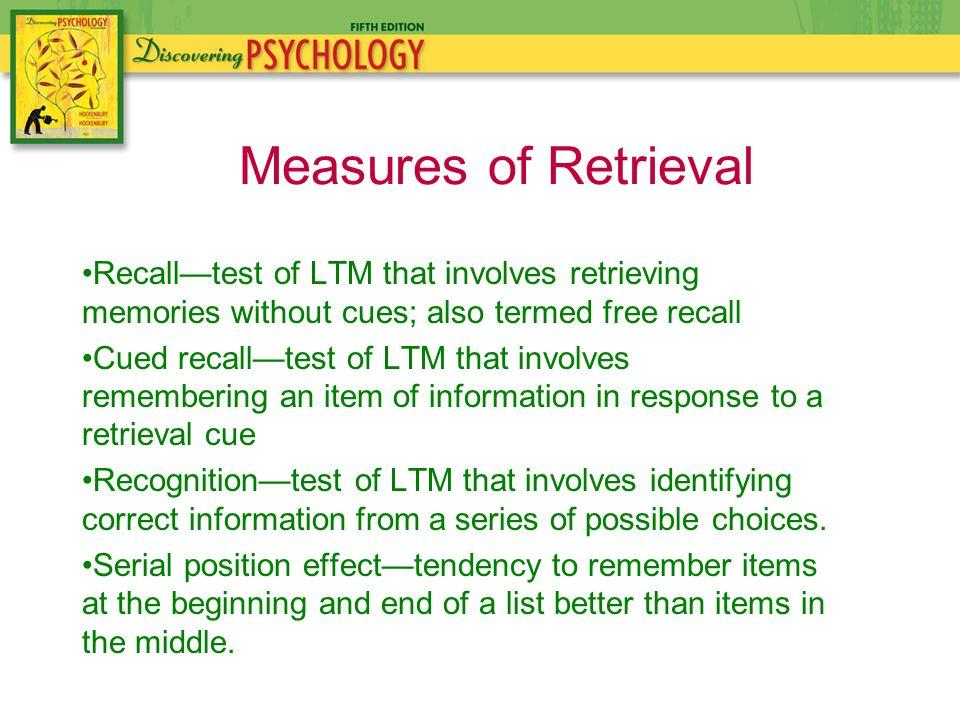 the impact of cueing on recall In this lesson, we will explore the different levels of memory and why there are  some things that come really easily to mind and why other things.