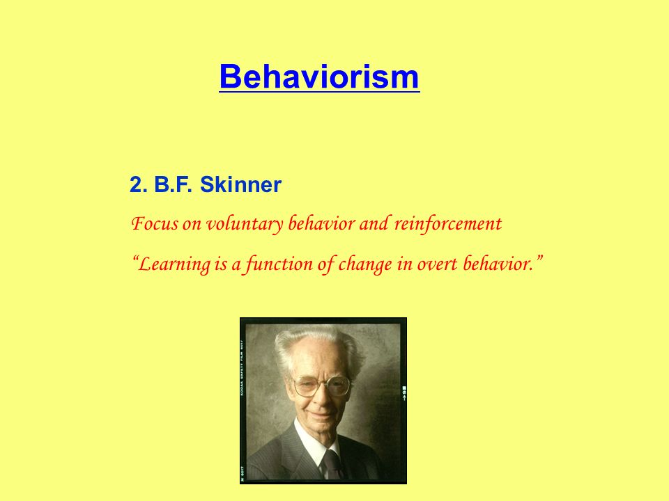 Behaviorism 2. B.F. Skinner