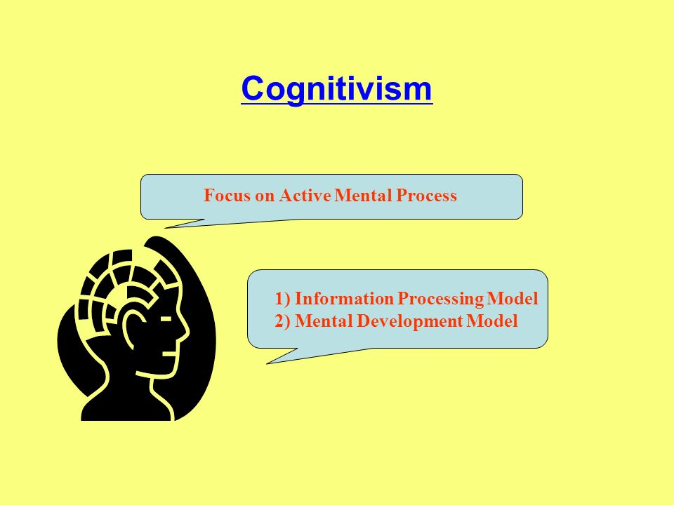 Cognitivism Focus on Active Mental Process